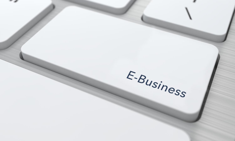 Számitógép billentyű E-bisiness felírattal